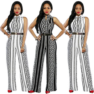 African jumpsuit printed straight trousers for women