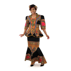 Traditional Print Luxury Skirt Set - African Clothing Online