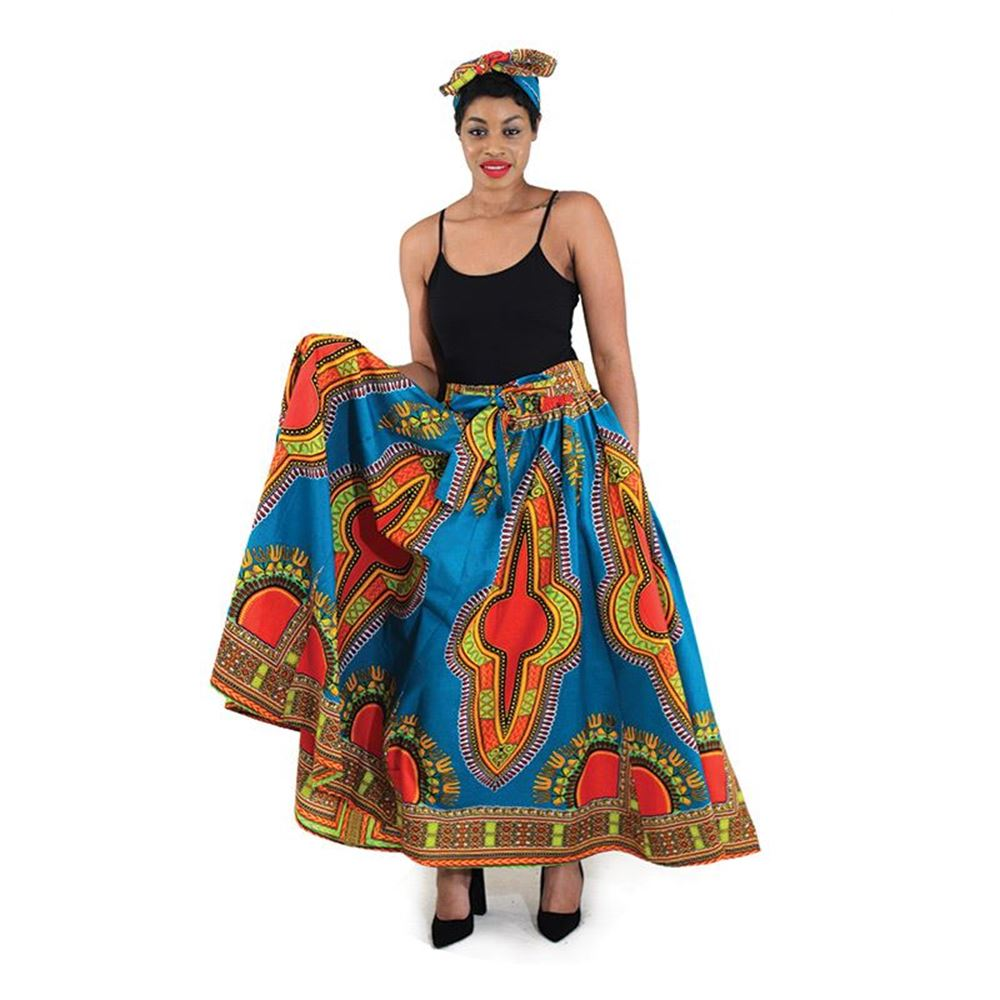 african-clothing-online,Traditional Print Maxi Skirt,African Clothing Online,African Dresses and Skirts