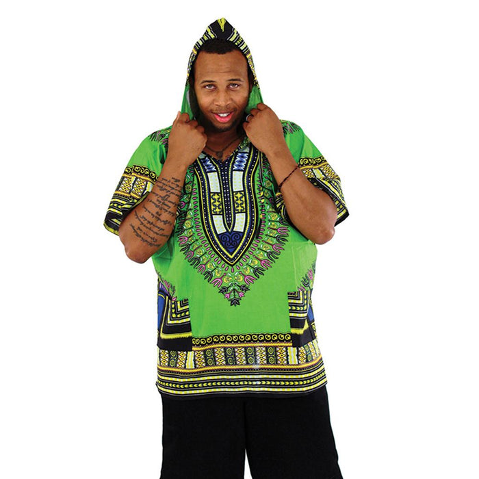 african-clothing-online,Traditional Print Hoodie Dashiki,African Clothing Online,Shirts
