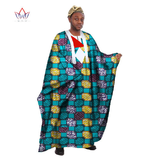 Custom Mens African Clothing Long Sleeve Men Loose Thobe Robe Dashiki Men African Robes for Men Bazin Riche Robes Femmes WYN18