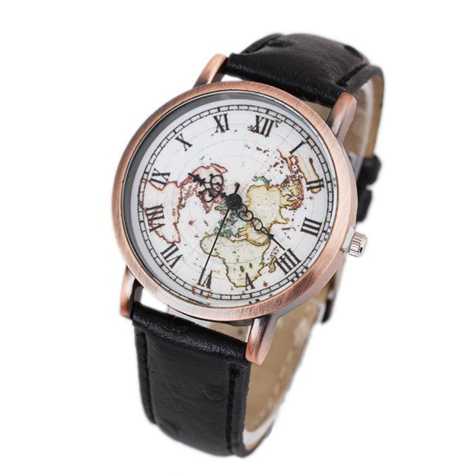 Women's Map Wristwatch Retro Watch