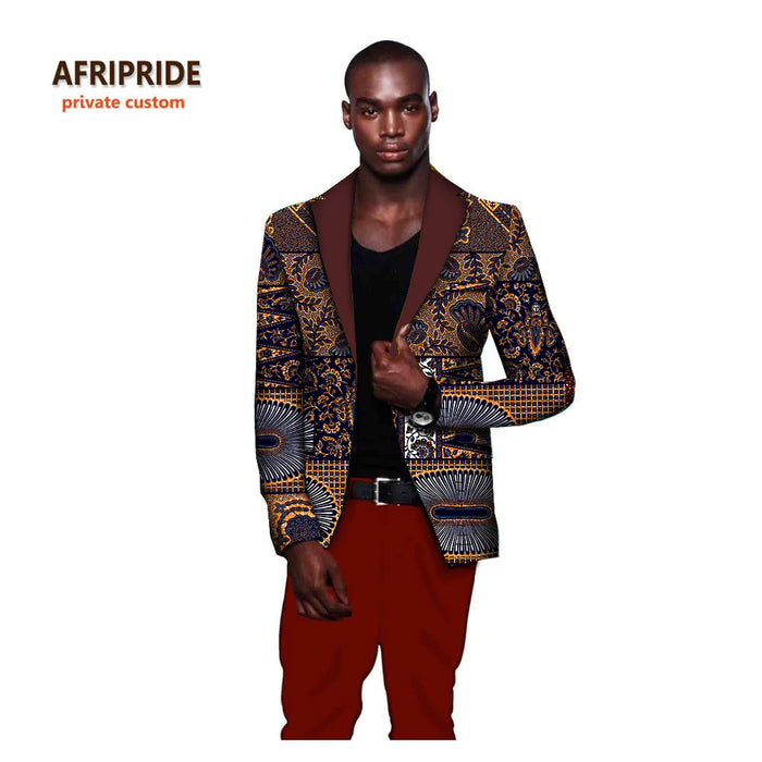 African fashion style men's suit jacket african clothes latest coat designs print  plus size