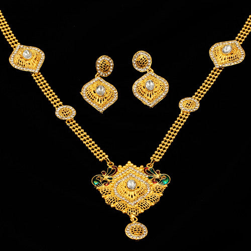 african-clothing-online,2018 Bridal Gift Nigerian Wedding African Beads Jewelry Set Fashion Dubai Gold Jewelry Set for Women Wholesale Design,African Clothing Online,African Jewelry
