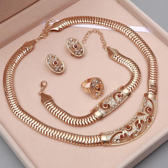 african-clothing-online,2018 Bridal Gift Nigerian Wedding African Beads Jewelry Set Brand Woman Fashion Dubai Gold Jewelry Set Wholesale Design,African Clothing Online,African Jewelry