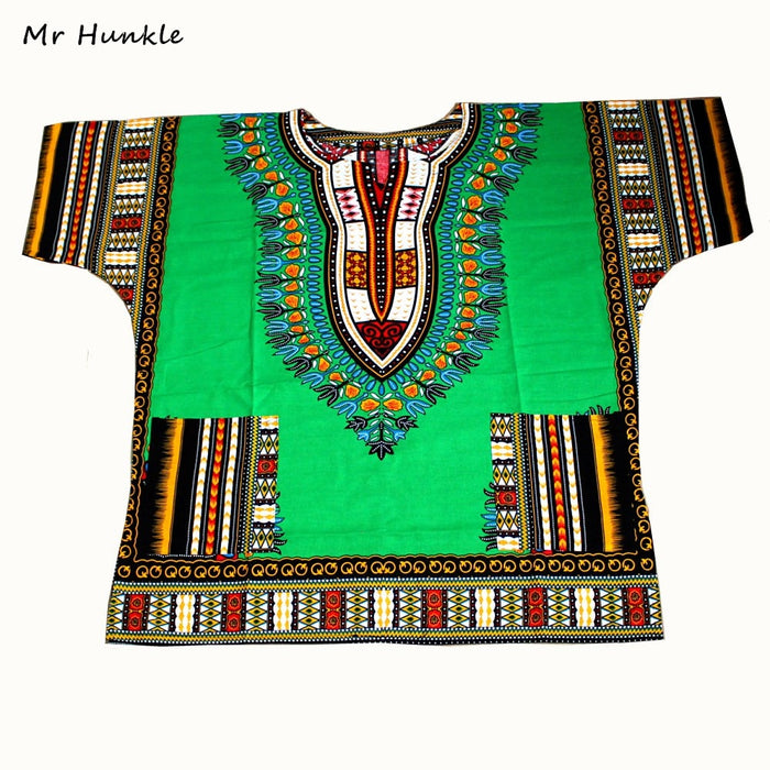 New African Dashiki Fashion Design African Traditional Floral Print Dashiki - African Clothing Online