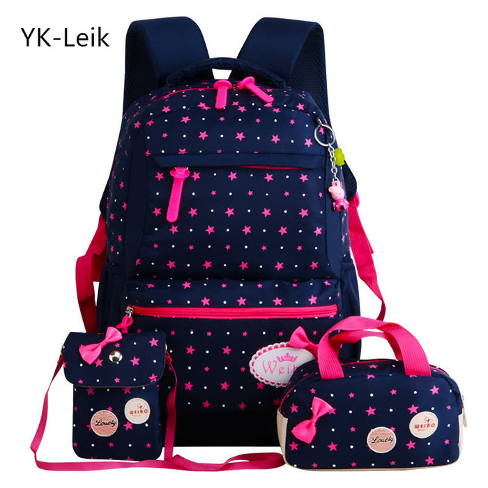 african-clothing-online,YK-Leik Star Printing Children School Bags For Girls Teenagers Backpacks,African Clothing Online,backpack