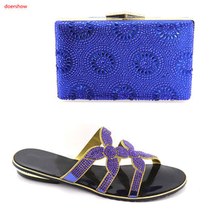 Ladies Italian Nigerian Women Wedding Shoes and Bag Set hot sale - African Clothing Online