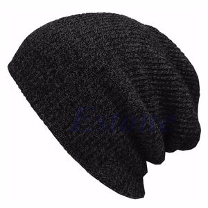 Hip Hop Knitted Hat Women's Winter Warm Casual Acrylic Slouchy Hat Crochet Ski Beanie Hat Female Soft Baggy Skullies Beanies - African Clothing Online