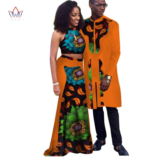 african-clothing-online,Africa Style Couple Clothes New Fashion Spring 2018 African Dresses for Sweet Lover Dashiki Plus Size Africa Clothing afcol7,African Clothing Online,matching couples