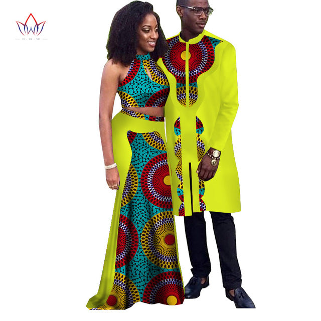 Africa Style Couple Clothes New Fashion Spring 2018 African Dresses for Sweet Lover Dashiki Plus Size Africa Clothing afcol7 - African Clothing Online