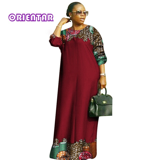african-clothing-online,2018 new african dresses for women Fashion Design dashiki women bazin riche o-neck long loose dress dashiki plus size 6xl WY2879,African Clothing Online,