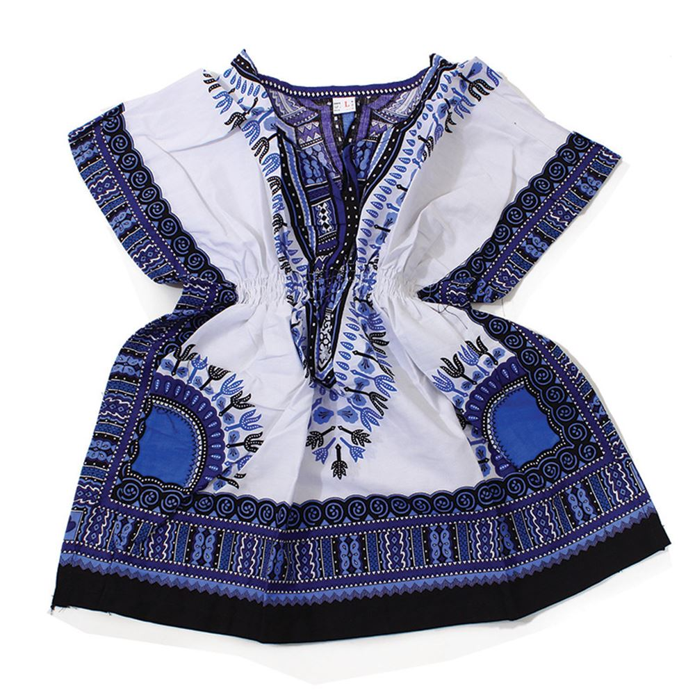 Traditional Print Elastic Child Dashiki - African Clothing Online