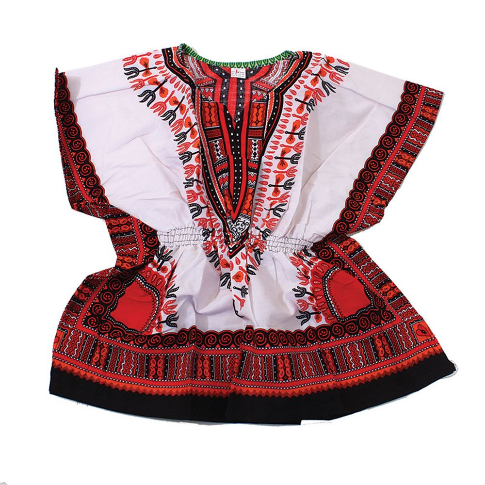 african-clothing-online,Traditional Print Elastic Child Dashiki,African Clothing Online,Children's African Clothing