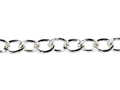 Trace Chain is a delicate chain which features fine and small oval shaped links. Deelytes Jewelry Collection