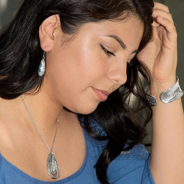 Deelytes Jewelry Collection  - Ancient Roman Glass Pear Drop Earrings