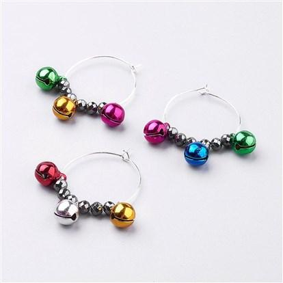 Festive Wine Charms Party, Mardi Gras, Christmas, Birthday Assorted Colors 4pcs - deelytes-com