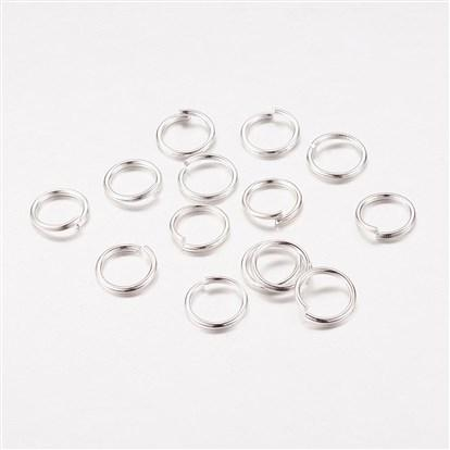 6mm 100pcs Silver Jump Rings Jewelry Findings Open Split Earring Necklace - deelytes-com
