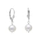 White Cultured Freshwater Pearl Lever Back Earrings - deelytes-com