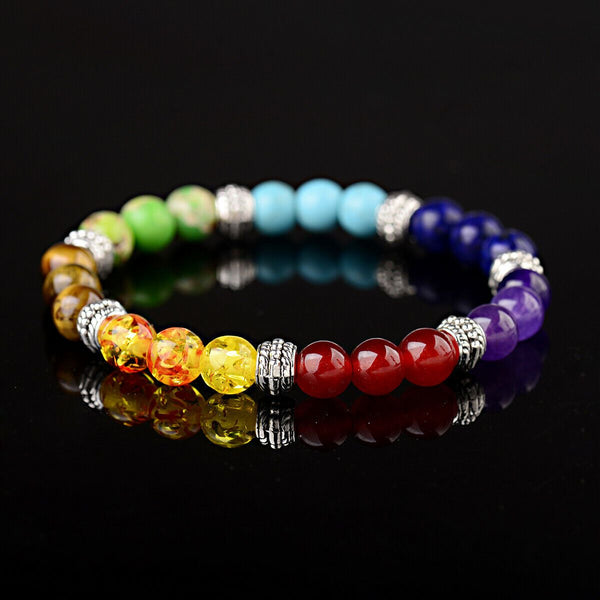 Chakra Natural Stone Reiki Energy Healing Women Men Charm Bracelets Jewelry