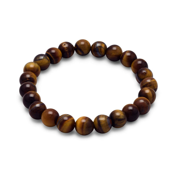 Tiger's Eye Bead Stretch Bracelet - deelytes-com