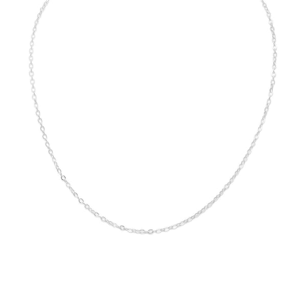 "13""+1"" Extension Small Cable Chain/Necklace Children's Necklace Sterling Silver - deelytes-com"