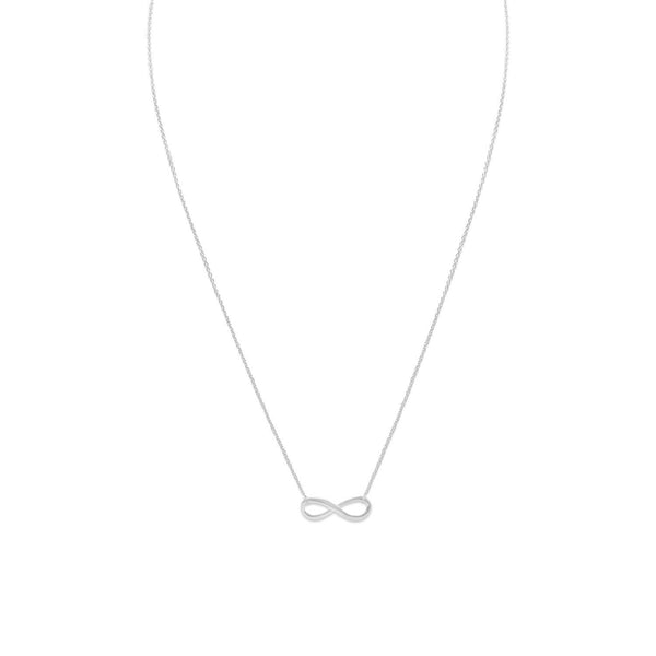 Sterling Silver Infinity Necklace - deelytes-com