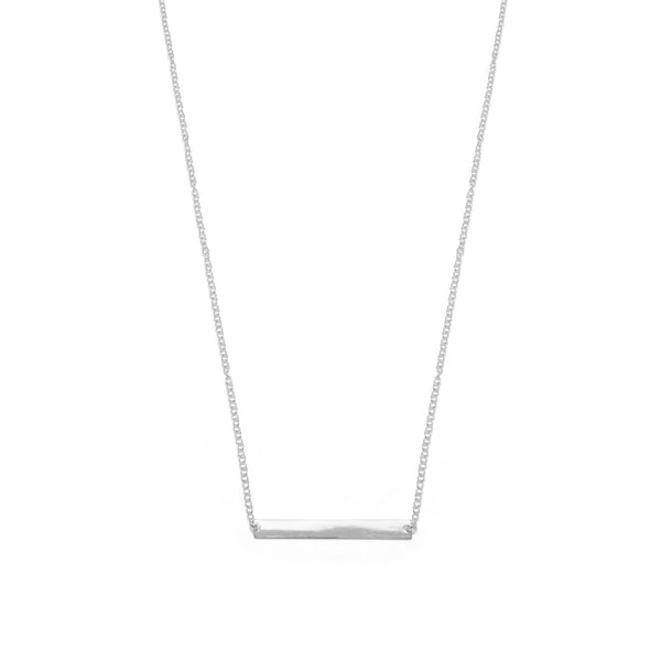 Thin Bar Sterling Silver Necklace - deelytes-com