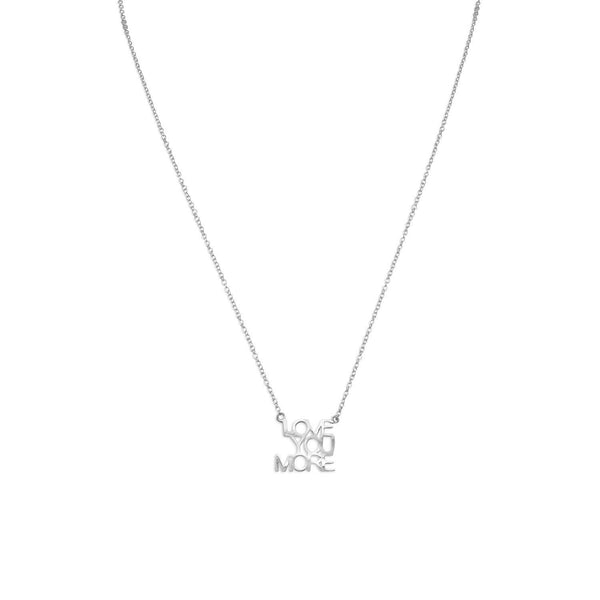 """LOVE YOU MORE"" Necklace Sterling Silver - deelytes-com"