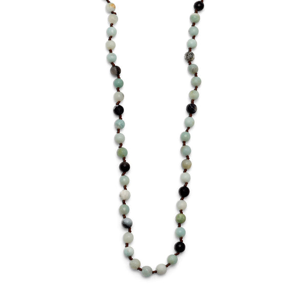 Faceted Amazonite Knotted Necklace - deelytes-com