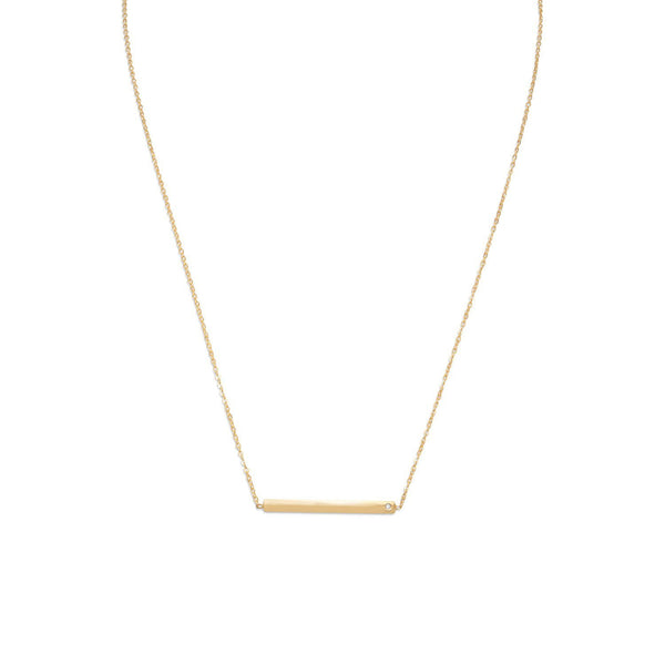 Gold Bar with CZ Necklace - deelytes-com