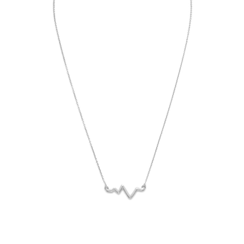 Heartbeat Sterling Silver Necklace - deelytes-com