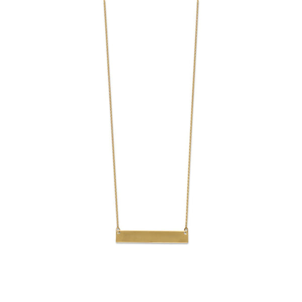 Gold Bar Necklace - Engravable - deelytes-com