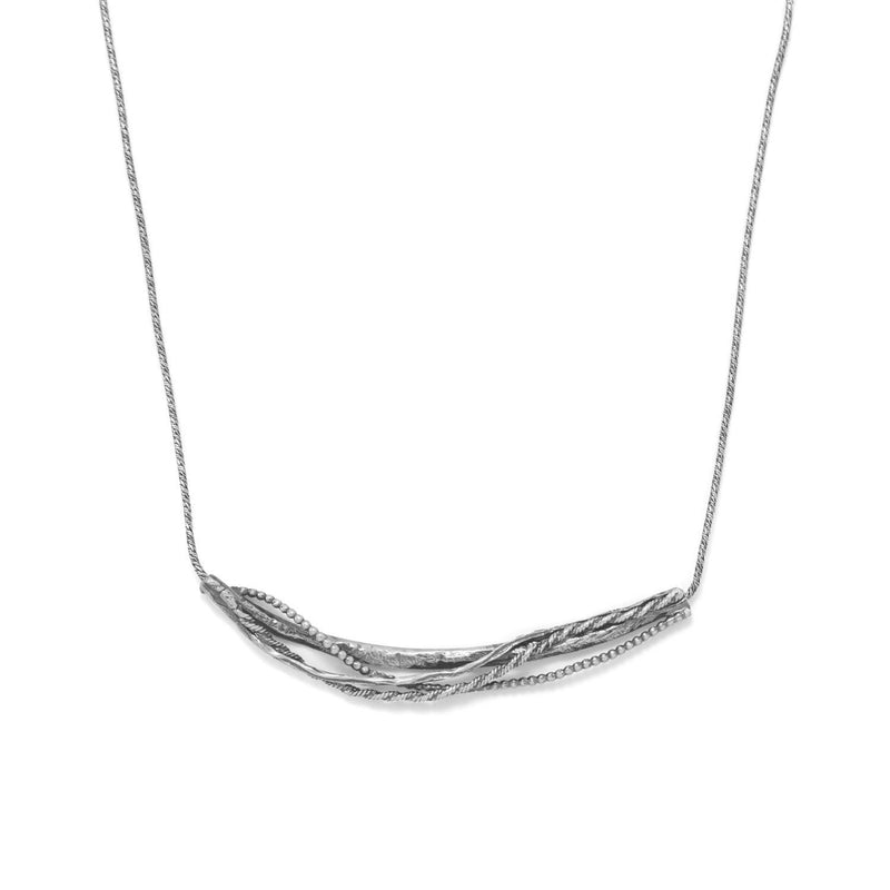 Ornate Abstract Bar Necklace Sterling Silver - deelytes-com