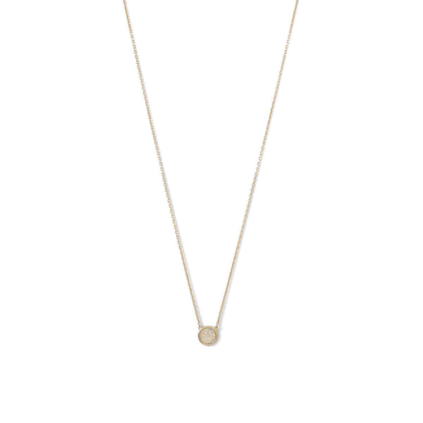 Gold Mini White Opal Necklace - deelytes-com