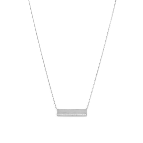 Polished Sterling Silver Bar with Necklace - deelytes-com