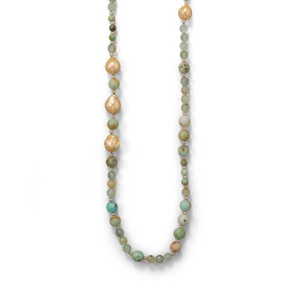 Minty Fresh! Prehnite Gold Filled Necklace - deelytes-com