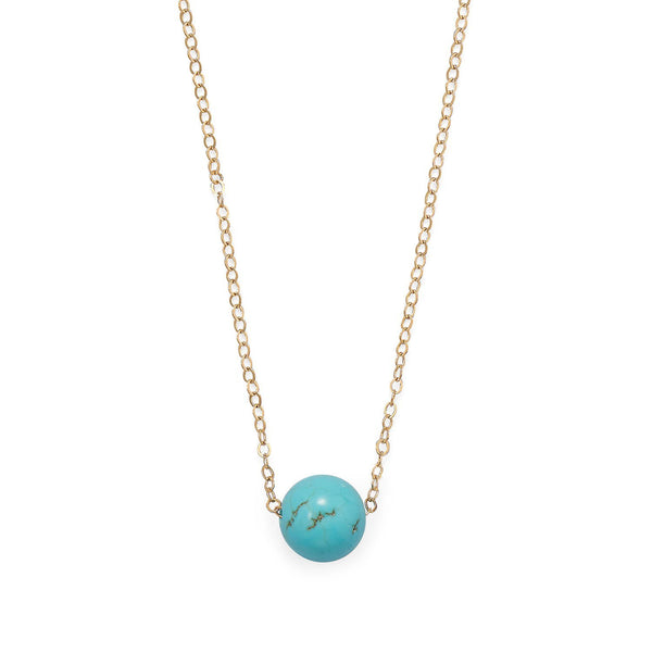 "16"" + 2"" Gold Filled Magnesite Necklace - deelytes-com"