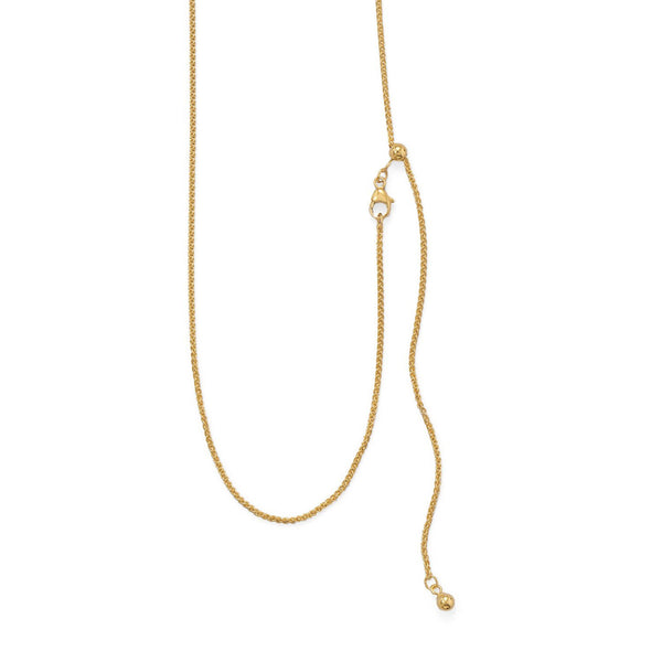 Adjustable Gold Filled French Wheat Chain/Necklace - deelytes-com