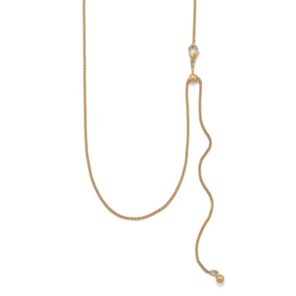 Adjustable Gold Filled Round Box Chain/Necklace - deelytes-com