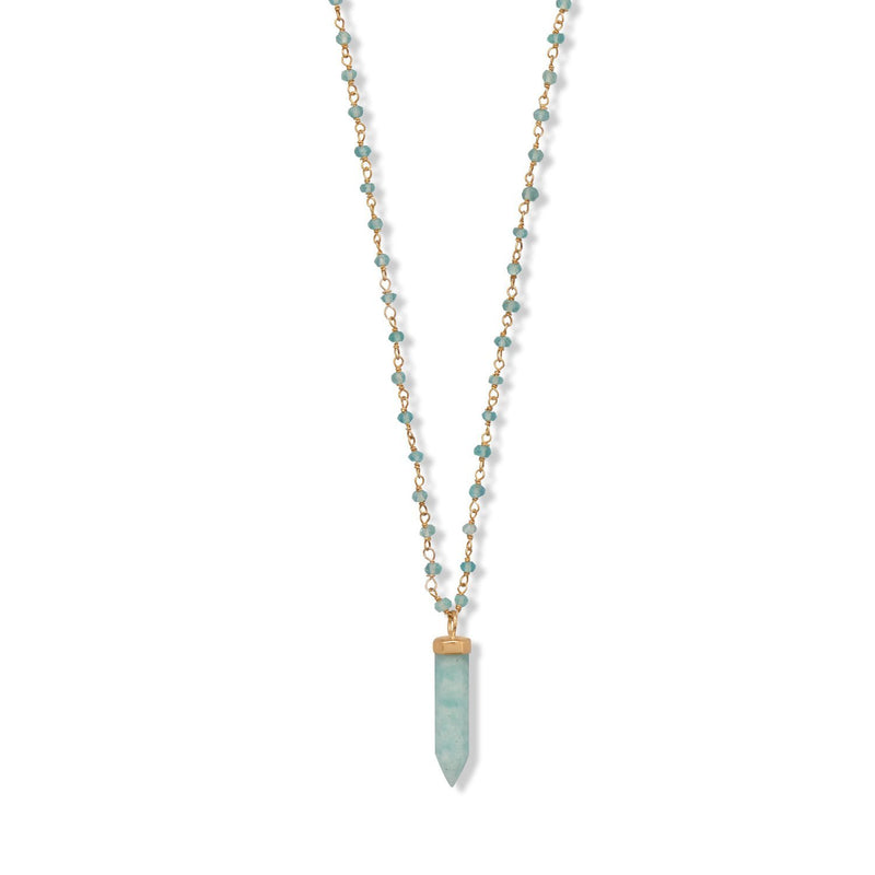 "40 "" Apatite and Amazonite Necklace - deelytes-com"