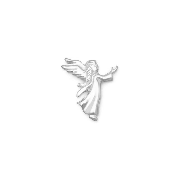 Small Angel Sterling Silver Lapel Pin - deelytes-com
