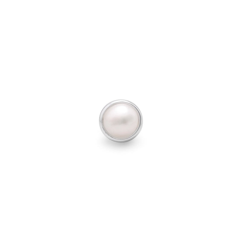 6mm White Cultured Freshwater Pearl Slide - deelytes-com