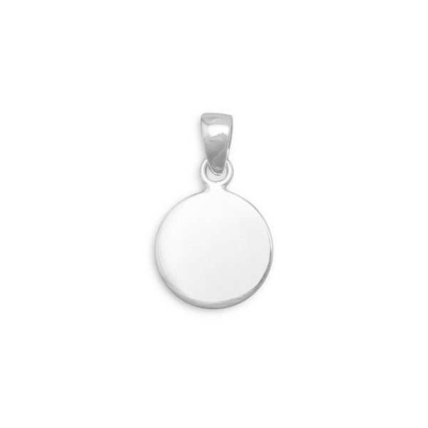 13mm Round Tag - Engravable Sterling Silver - deelytes-com