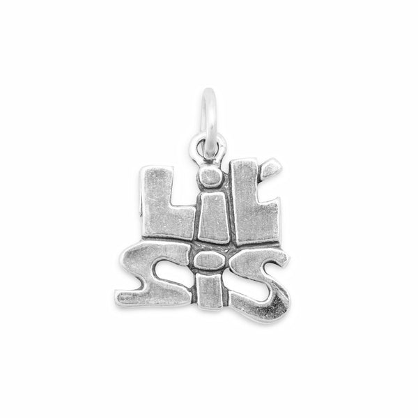 Lil Sis  Sterling Silver Charm - deelytes-com