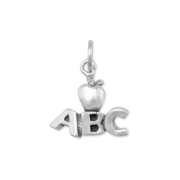 ABC with Apple Charm Sterling Silver - deelytes-com