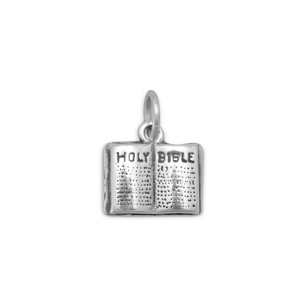 Holy Bible Sterling Silver Charm - deelytes-com