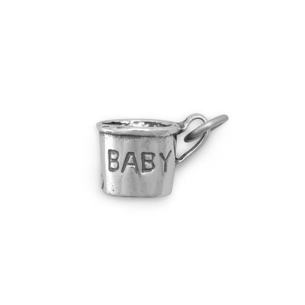 Baby Cup Charm Sterling Silver - deelytes-com
