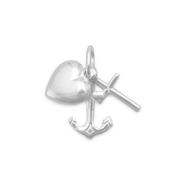 Faith/Hope/Charity Charm Sterling Silver - deelytes-com
