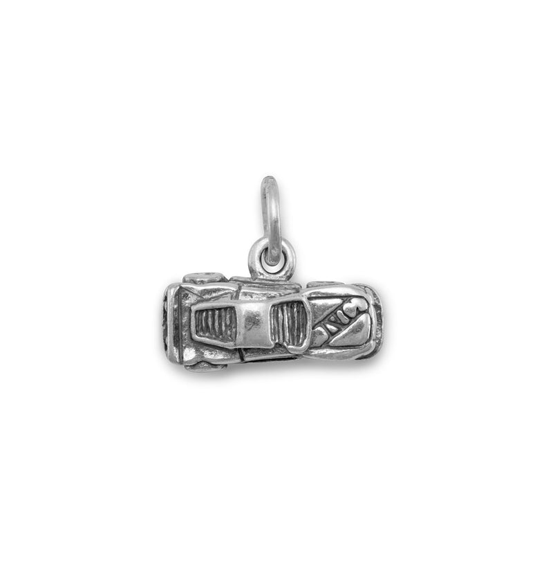 Small Race Car Sterling Silver Charm - deelytes-com